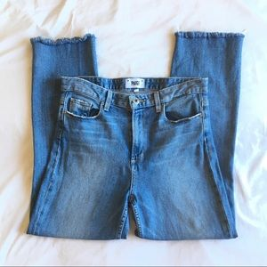 Paige High Rise Sarah Straight Ankle Jeans